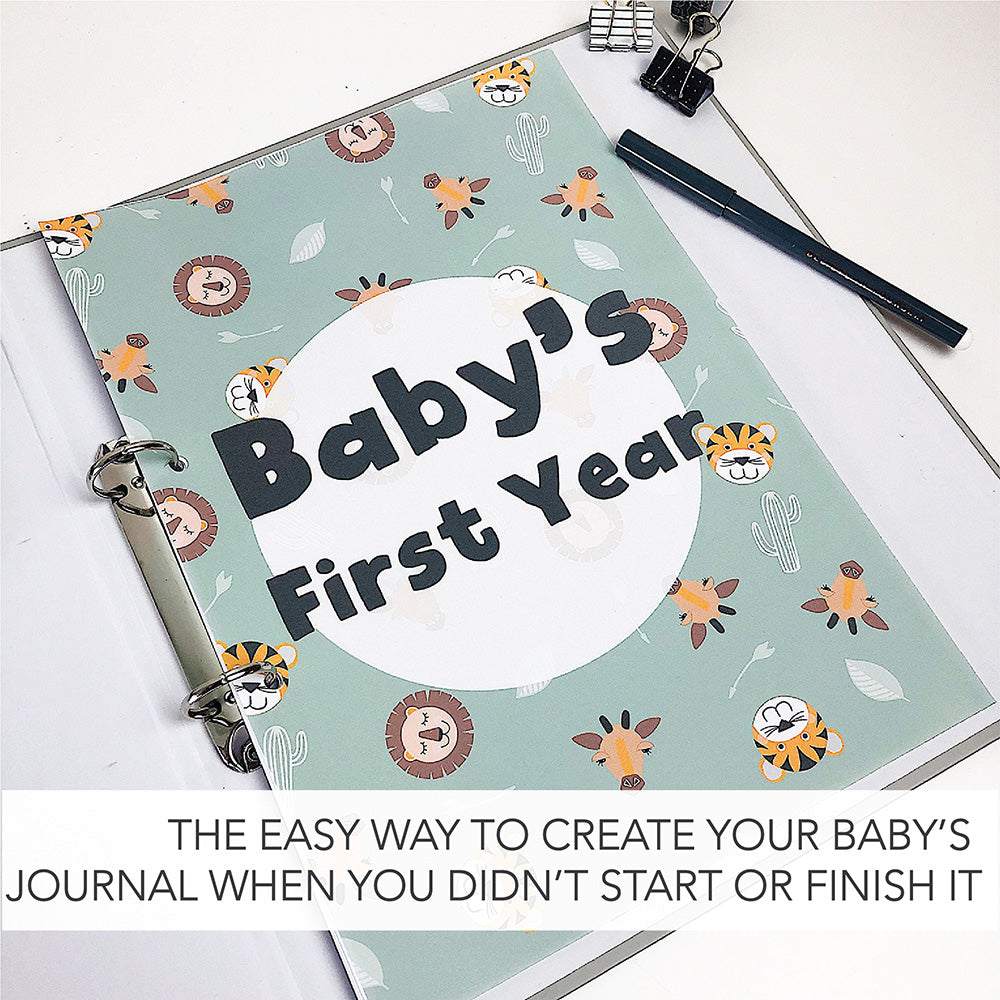 The easy way to create your baby's journey when you didn't start it or finish it