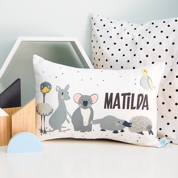 australian animal  personalised kids cushion