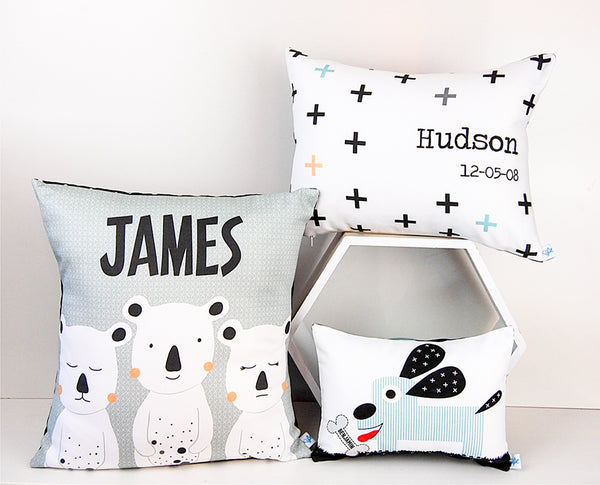 Personalised cushions for kids & babies
