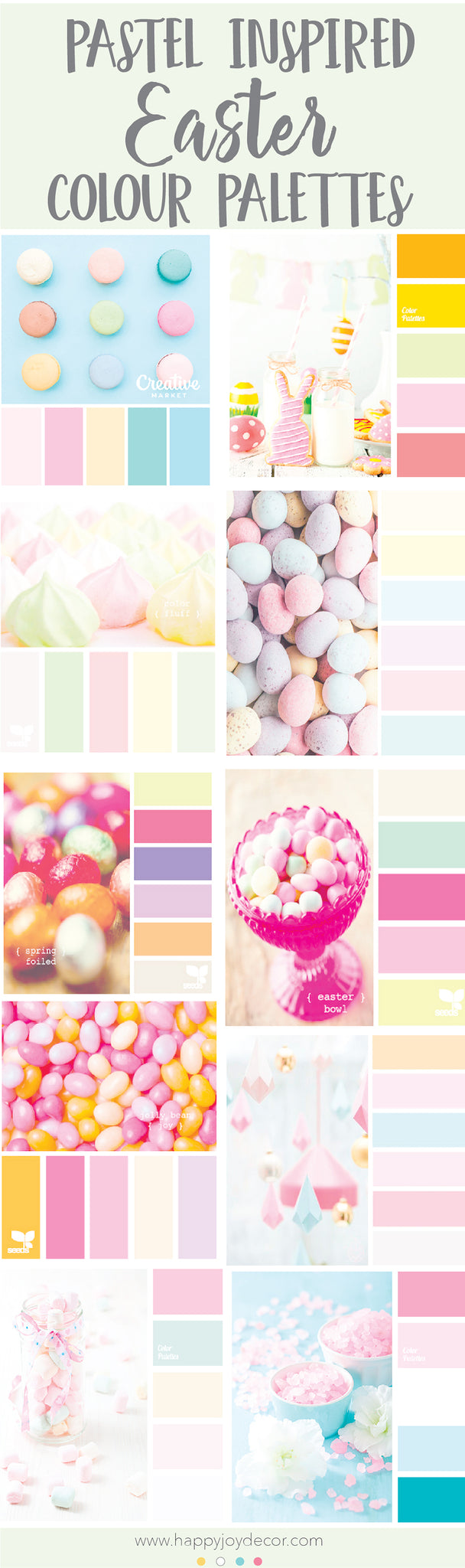 Easter colour palettes to inspired your easter colouring in kids pages