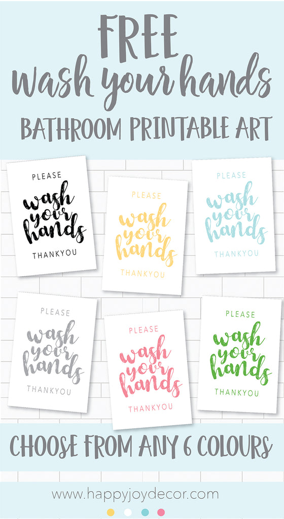 free printable please wash your hands bathroom print