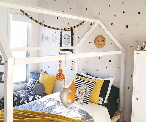 kids rooms with mustard