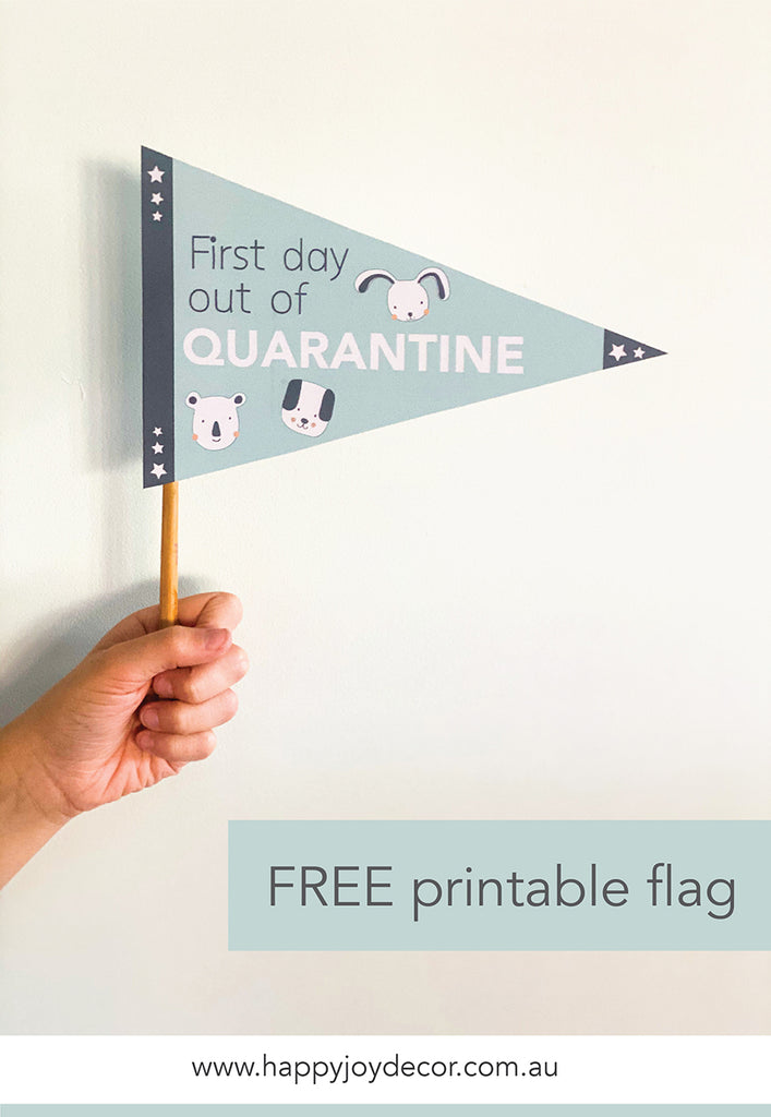Quarantine Free printable flags