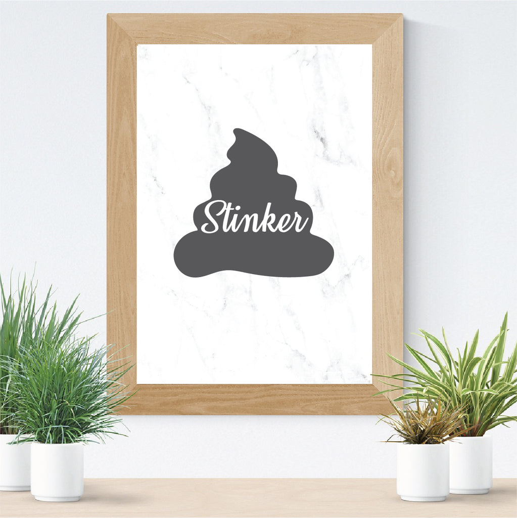 bathroom stinker toilet printable art