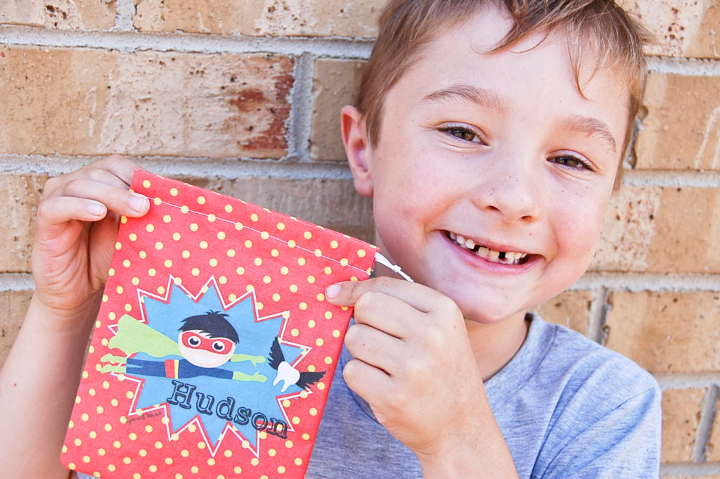 personalised tooth fairy bags