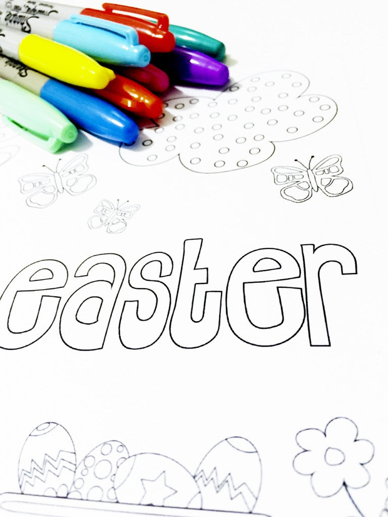 Easter 2016 colouring in page