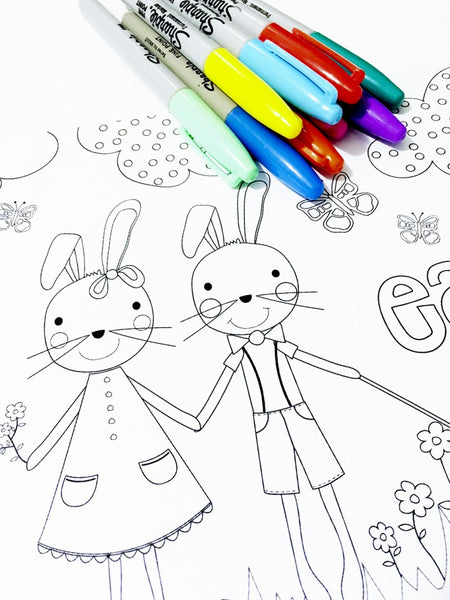 Free Easter 2016 colouring in page