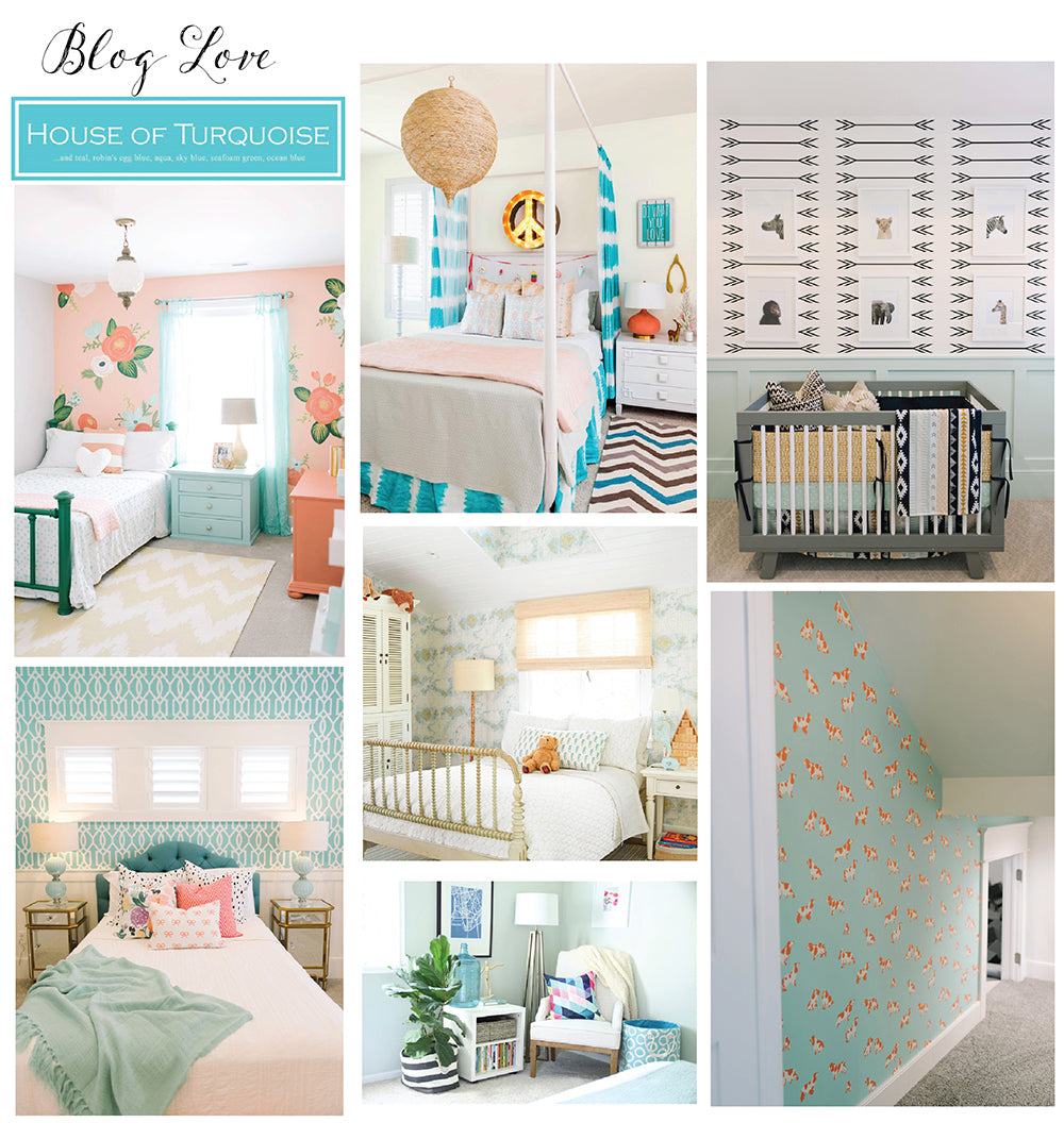 turquoise kids rooms
