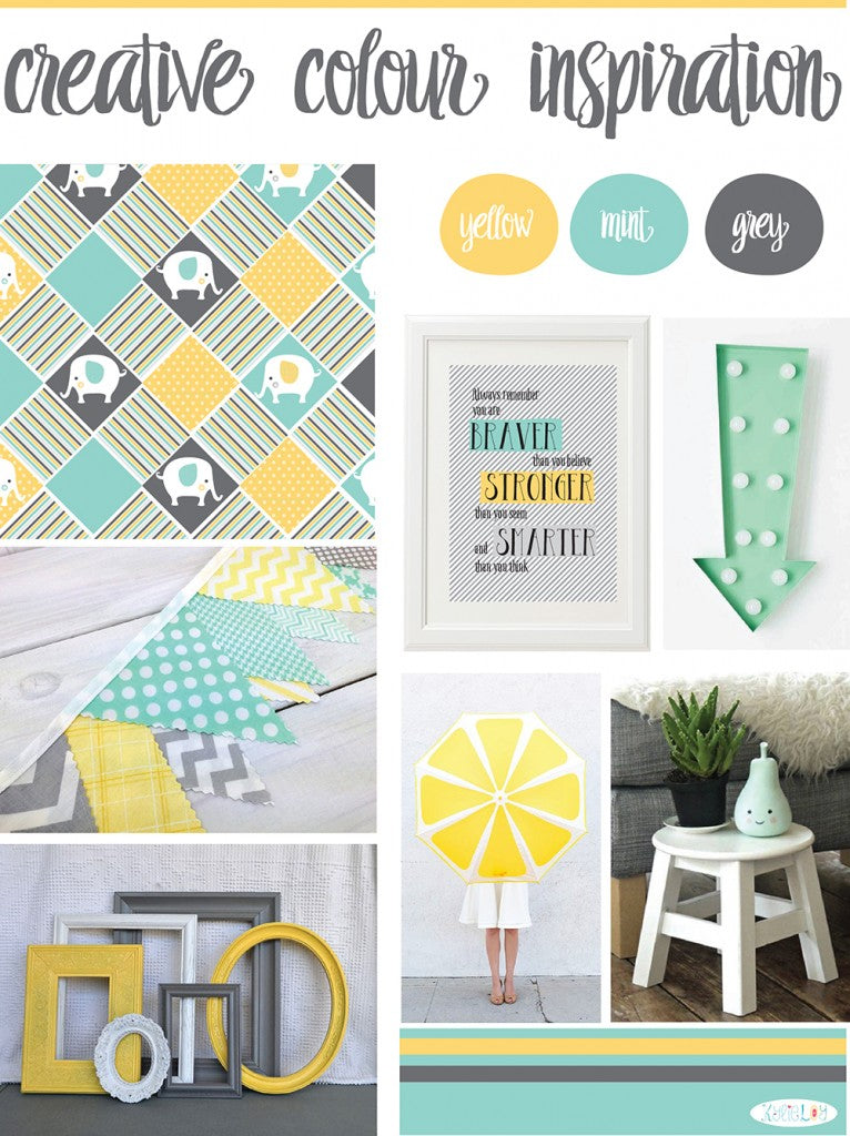 Creative colour inspiration - mint yellow grey