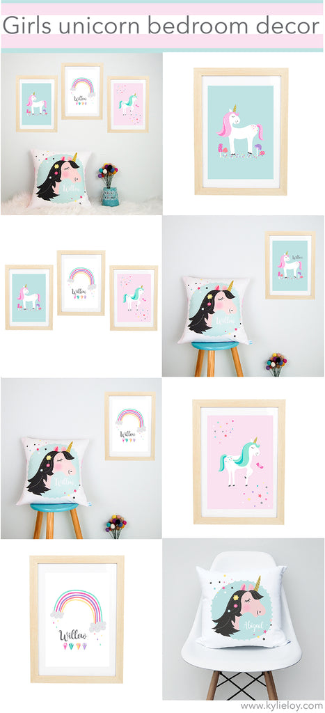 girls unicorn bedroom decor