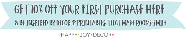 Personalised decor & more at Happy Joy Decor