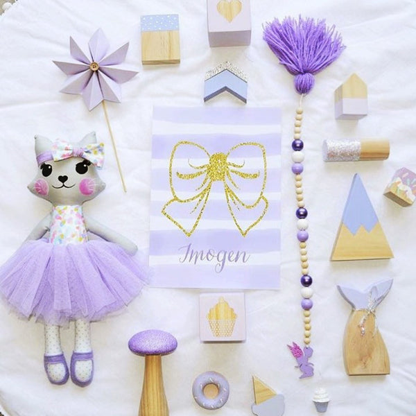 girls purple & lilac flat lay inspiration