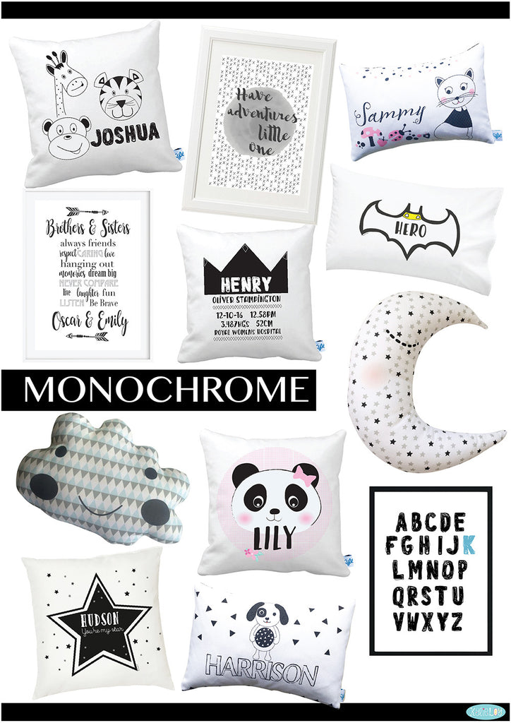 Monochrome Kids Bedroom Or Nursery Decor