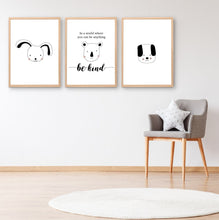 Load image into Gallery viewer, In A World Where You Can Be Anything Be Kind Printable Wall Art Set - Happy Joy Decor