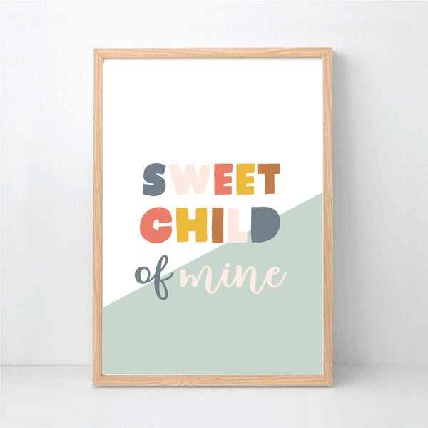 Sweet Child Of Mine Printable Wall Art - Happy Joy Decor