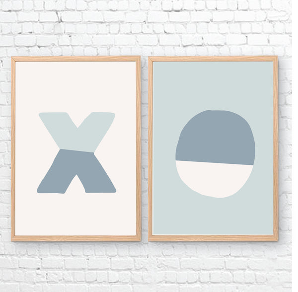XO Printable Wall Art - Happy Joy Decor