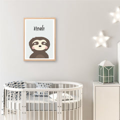 Sloth  Personalised Print - Custom Name Print - Happy Joy Decor