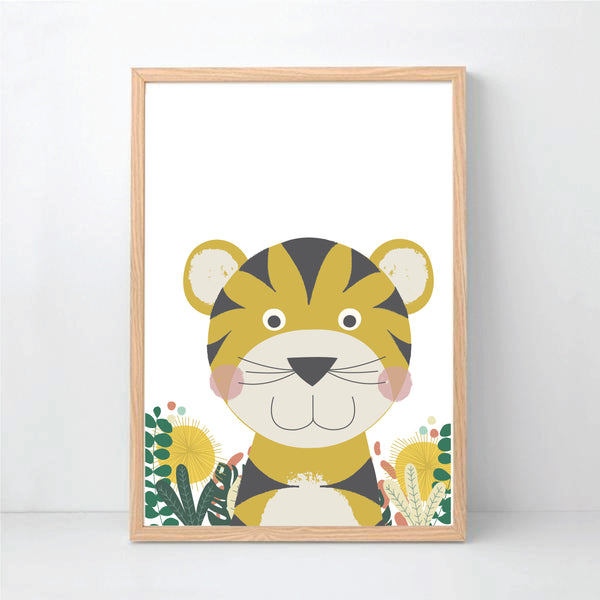 Tiger Printable Art - White