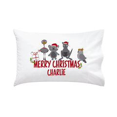 Australian Animal Kid's Personalised Christmas Pillowcase - Happy Joy Decor