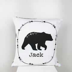 Mountain Bear Boys Personalised Cushion