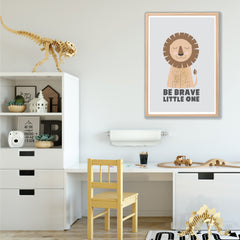 Be Brave Little One Lion Instant Download Wall Art Print - Happy Joy Decor