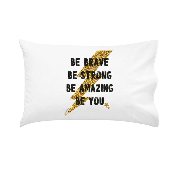 Be Brave Lightening Bolt Pillowcase