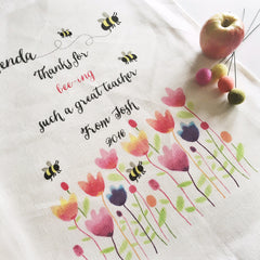Bee-ing The Best Mum Personalised Tea Towel - Happy Joy Decor