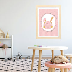 Blush Pink Bunny Girls Instant Download printable - Happy Joy Decor