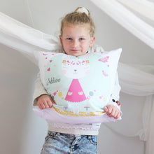 Load image into Gallery viewer, Boho bunny girls personalised cushion - girls custom name pillow - Happy Joy Decor