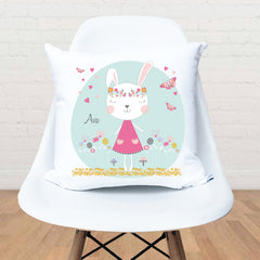 Boho bunny girls personalised cushion - Happy Joy Decor