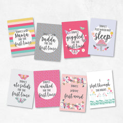 Boho Floral Wonderland Printable Baby Milestone Cards - Happy Joy Decor