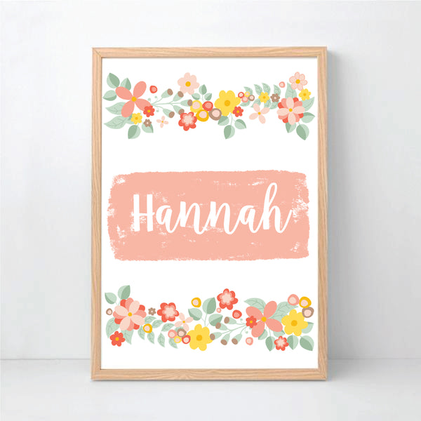Bouquet Personalised Print - Happy Joy Decor