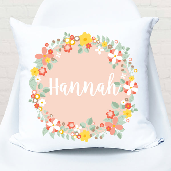 Bouquet Floral Personalised Cushion