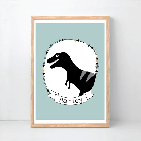 T-Rex Dinosaur Printable Personalised Wall Art