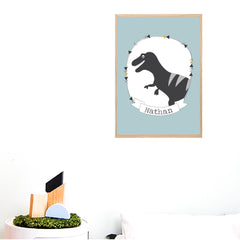 T-Rex Dinosaur Personalised Print - Happy Joy Decor