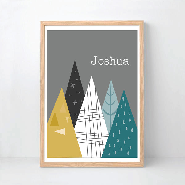 Mountains Personalised Print - Happy Joy Decor