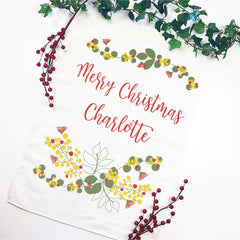 Bush Christmas Personalised Tea Towel - Happy Joy Decor