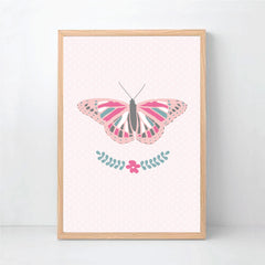 Butterfly Wall Art Print Set - Happy Joy Decor