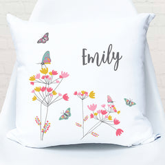 Butterfly girls personalised cushion - Happy Joy Decor