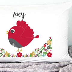 Christmas Bird Personalised Pillowcase - Happy Joy Decor