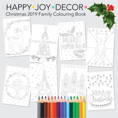Christmas 2019 Instant Download Printable Colouring In Book - Happy Joy Decor
