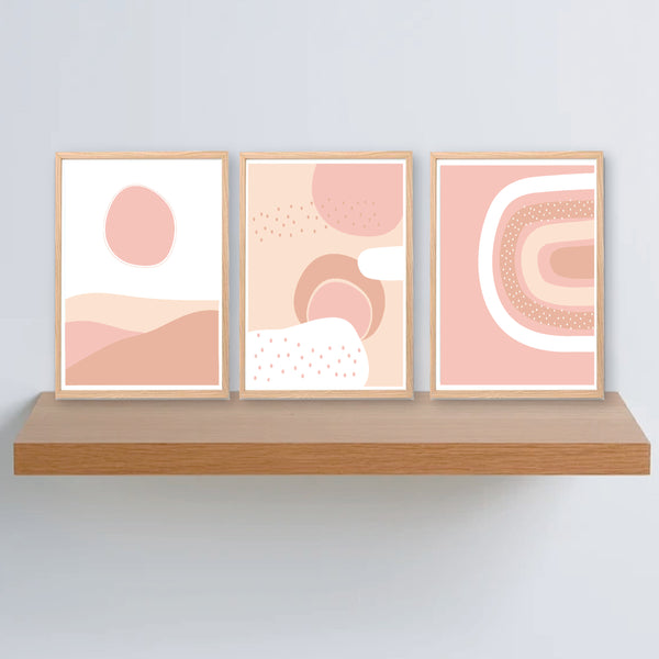 Earthy Abstract Sunset Printable Set - Happy Joy Decor