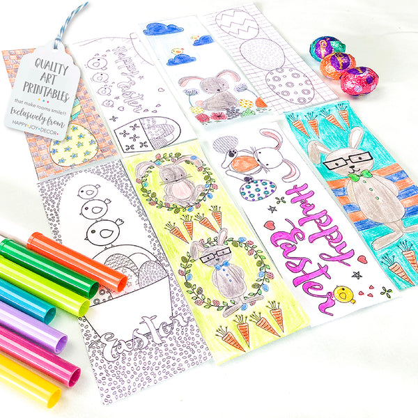 Easter Colouring Bookmarks - Happy Joy Decor