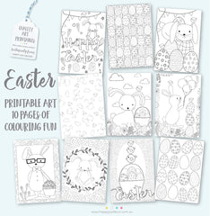 Easter Colouring In Pages - Happy Joy Decor