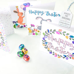 Easter Colouring In Greeting Cards - Happy Joy Decor