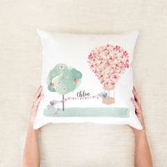 Hot Air Balloon Personalised Cushion
