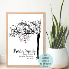 Load image into Gallery viewer, Family Tree Personalised print - Happy Joy Decor