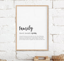 Load image into Gallery viewer, Family Definition Print - Family Wall Prints - Happy Joy Decor