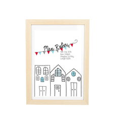 Flying High Plane Personalised Birth Wall Art Set - Happy Joy Decor
