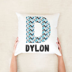 Initial Personalised Cushion - Custom name pillow - Happy Joy Decor
